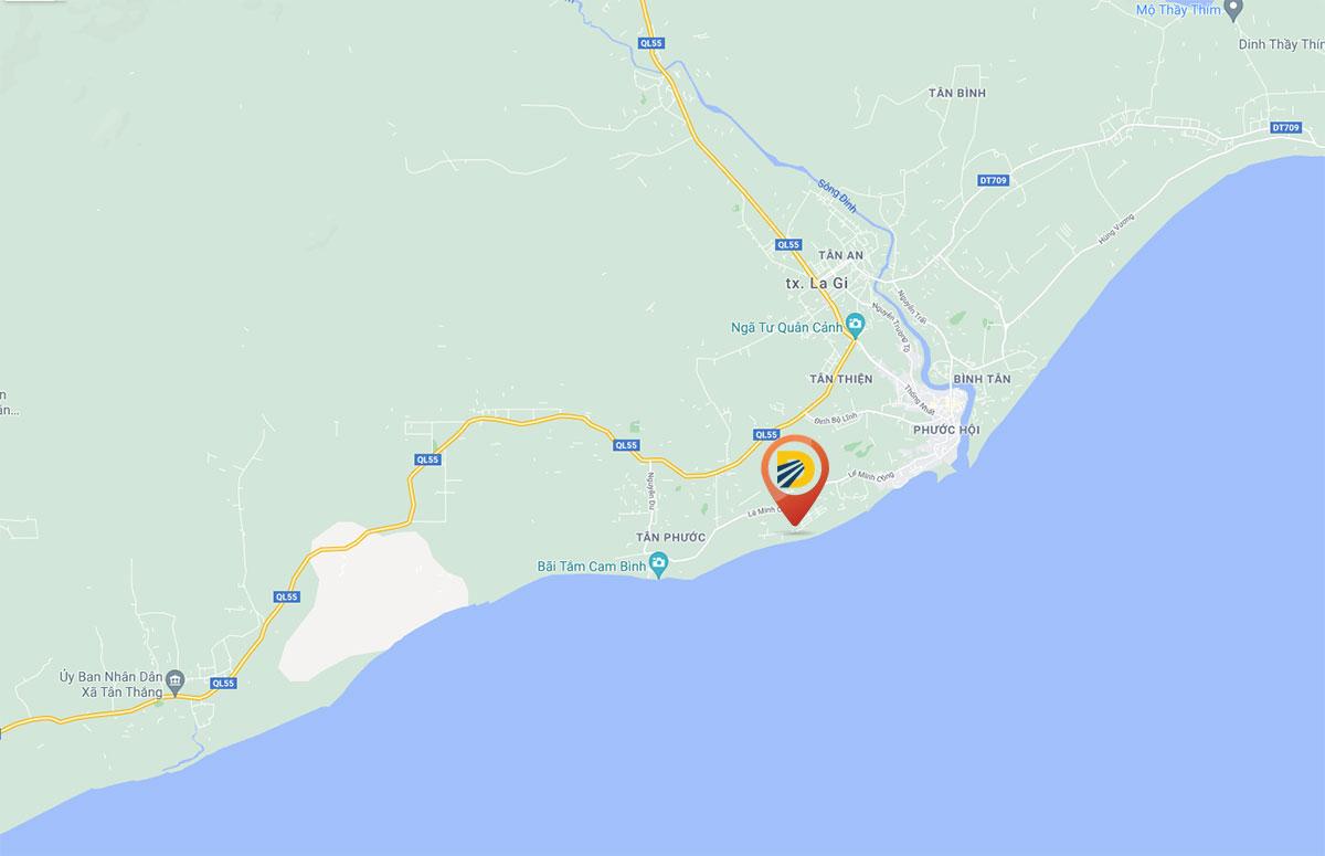 vị trí khu nghĩ dưỡng De Lagi Bình Thuận